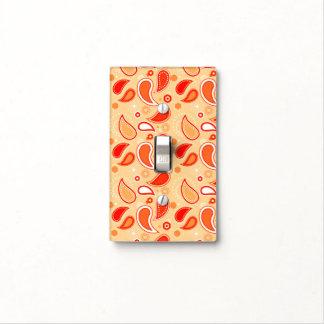 Modelo anaranjado de Paisley del té con el Placa Para Interruptor