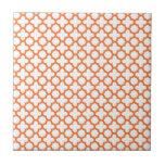 Modelo anaranjado de Quatrefoil Azulejos
