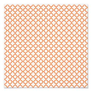 Modelo anaranjado de Quatrefoil Cojinete