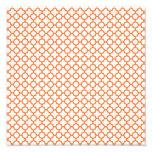 Modelo anaranjado de Quatrefoil Fotografias