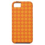 Modelo anaranjado del argyle iPhone 5 fundas