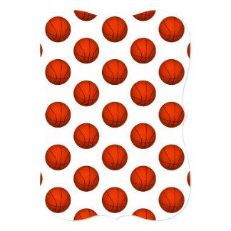 """Modelo anaranjado del baloncesto invitación 5"""" x 7"""""""
