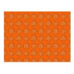 Modelo anaranjado del baloncesto tarjetas postales