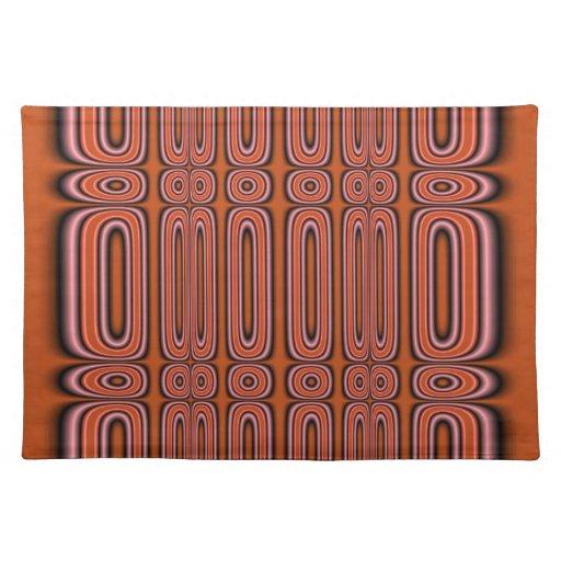Modelo anaranjado del círculo mantel individual