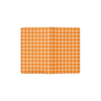 Modelo anaranjado del diamante de la combinación funda para libreta y libreta pequeña moleskine