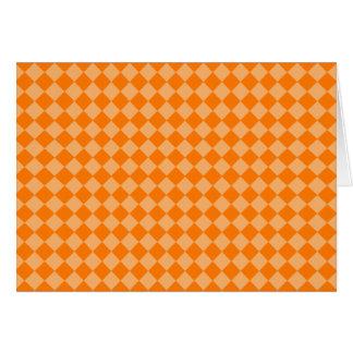Modelo anaranjado del diamante de la combinación tarjeta de felicitación