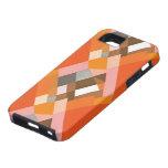 Modelo anaranjado del diamante del art déco del funda para iPhone SE/5/5s