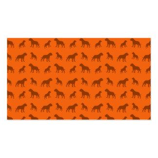 Modelo anaranjado del dogo plantilla de tarjeta de visita