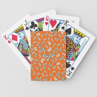 Modelo anaranjado del dominó de la diversión barajas de cartas