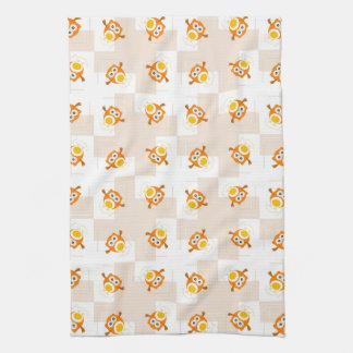 Modelo anaranjado del ejemplo del búho toalla de mano