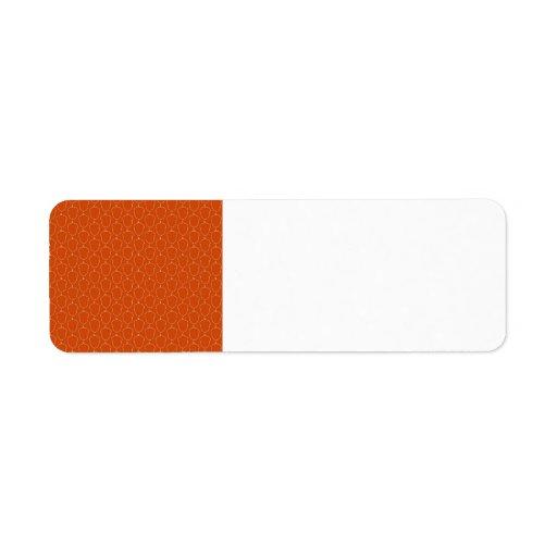 Modelo anaranjado del esquema de las nueces de bel etiqueta de remite