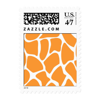 Modelo anaranjado del estampado de girafa estampilla