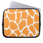 Modelo anaranjado del estampado de girafa funda portátil