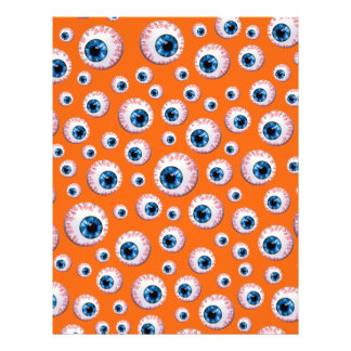 Modelo anaranjado del globo del ojo tarjetas informativas