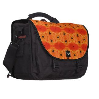 Modelo anaranjado del lirio bolsas para ordenador