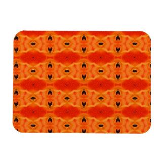Modelo anaranjado del lirio imán