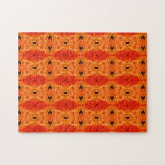 Modelo anaranjado del lirio puzzles