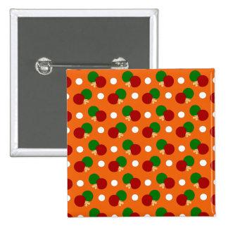 Modelo anaranjado del ping-pong pin cuadrada 5 cm