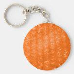Modelo anaranjado del plástico de burbujas llaveros personalizados