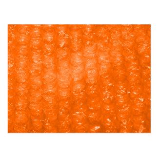 Modelo anaranjado del plástico de burbujas postales