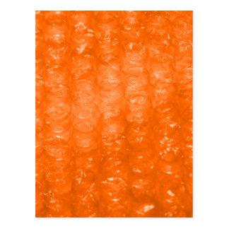 Modelo anaranjado del plástico de burbujas tarjeta postal