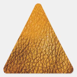 Modelo anaranjado del rexine pegatinas de triangulo personalizadas
