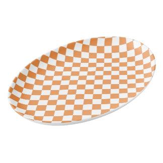 Modelo anaranjado en colores pastel del tablero de badeja de porcelana