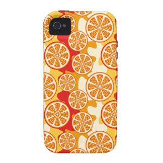 Modelo anaranjado Case-Mate iPhone 4 carcasas