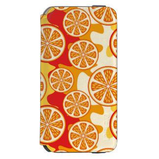 Modelo anaranjado funda billetera para iPhone 6 watson
