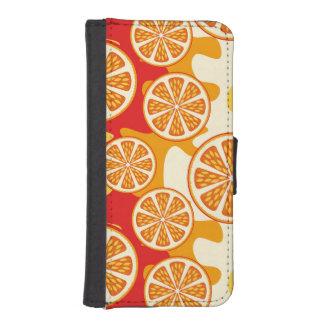 Modelo anaranjado billetera para teléfono