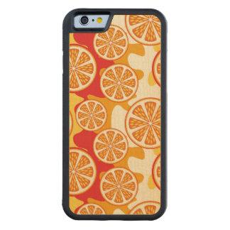 Modelo anaranjado funda de iPhone 6 bumper arce