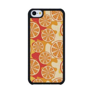 Modelo anaranjado funda de iPhone 5C slim arce