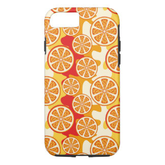 Modelo anaranjado funda iPhone 7
