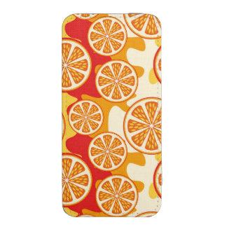 Modelo anaranjado funda acolchada para iPhone