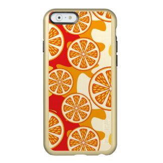 Modelo anaranjado funda para iPhone 6 plus incipio feather shine