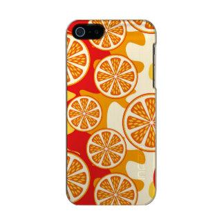 Modelo anaranjado carcasa de iphone 5 incipio feather shine