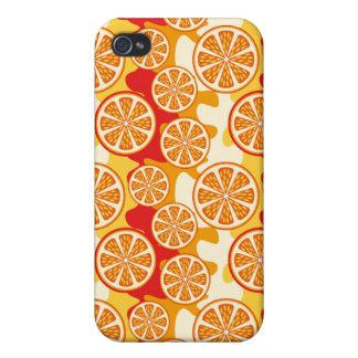 Modelo anaranjado iPhone 4 fundas