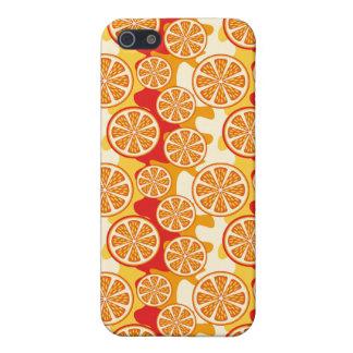 Modelo anaranjado iPhone 5 fundas