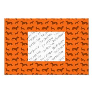 Modelo anaranjado lindo del dachshund fotos