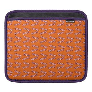 Modelo anaranjado lindo del tocino funda para iPads