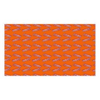 Modelo anaranjado lindo del tocino tarjetas personales