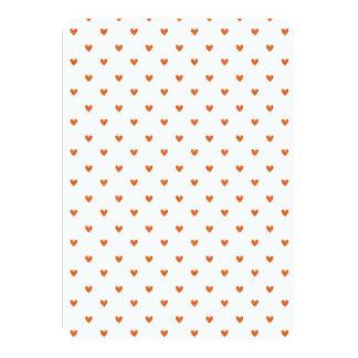 Modelo anaranjado quemado de los corazones del comunicados personalizados