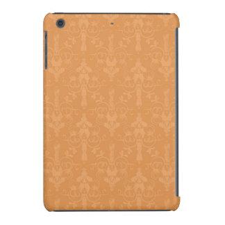 Modelo anaranjado quemado vintage del damasco fundas de iPad mini
