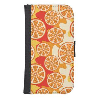 Modelo anaranjado retro de la fruta cítrica billeteras para teléfono