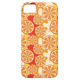 Modelo anaranjado retro de la fruta cítrica iPhone 5 funda
