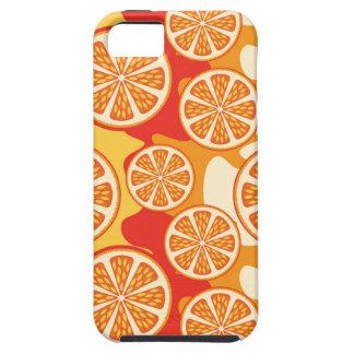 Modelo anaranjado retro de la fruta cítrica iPhone 5 carcasas
