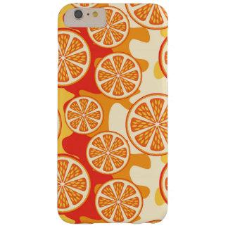 Modelo anaranjado retro de la fruta cítrica funda barely there iPhone 6 plus