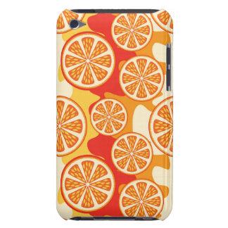 Modelo anaranjado retro de la fruta cítrica funda Case-Mate para iPod