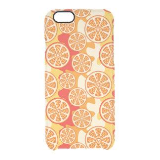 Modelo anaranjado retro de la fruta cítrica funda clear para iPhone 6/6S