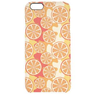 Modelo anaranjado retro de la fruta cítrica funda clear para iPhone 6 plus